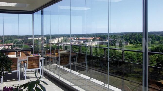 Innglassing balkonger